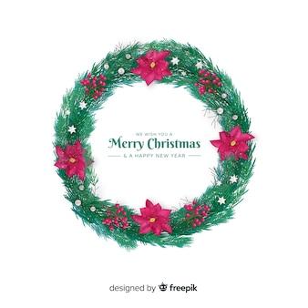 素敵なクリスマスの花輪