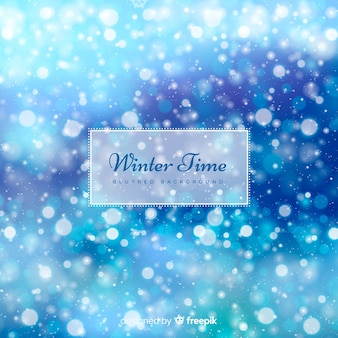 ぼやけた冬の背景