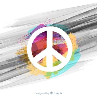 Фон подписи мира