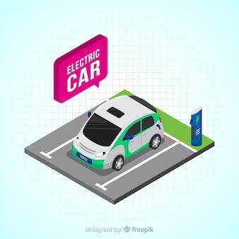 スピーチバブルの電気自動車の背景