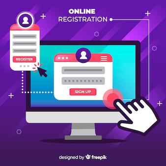 オンライン登録