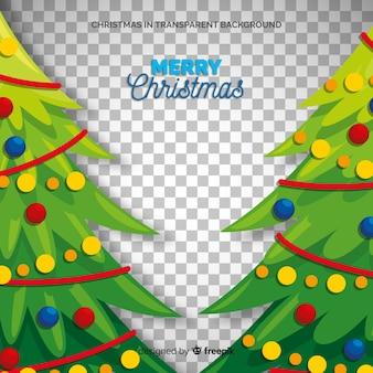 クリスマスツリーの図の透明な背景