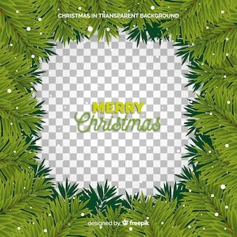 クリスマスリースフレーム透明な背景