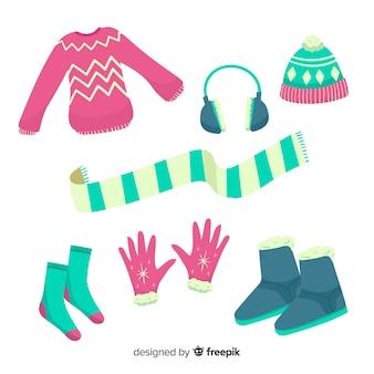 手描きの冬の服と本質