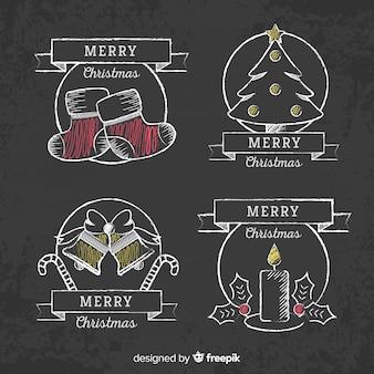 クリスマスの黒板バッジパック