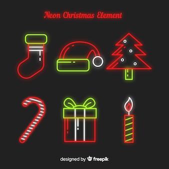 Рождественский элемент неоновый знак