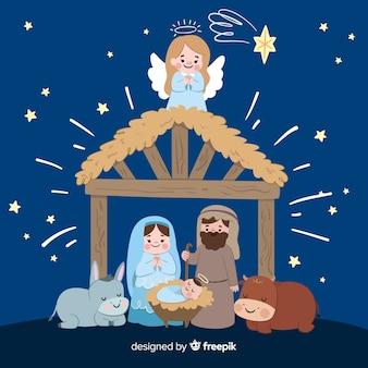 Рождественская рождественская сценическая сцена
