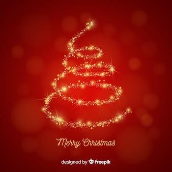 スパークリングクリスマスツリーの背景