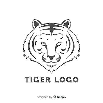 シンプルなトラのロゴ