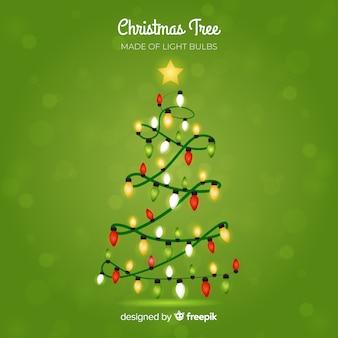 ライトガーランドクリスマスツリーの背景