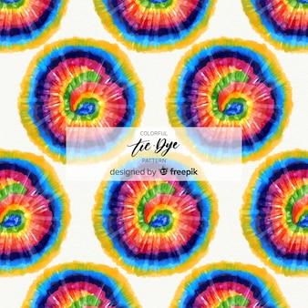 カラフルなタイ染料パターン