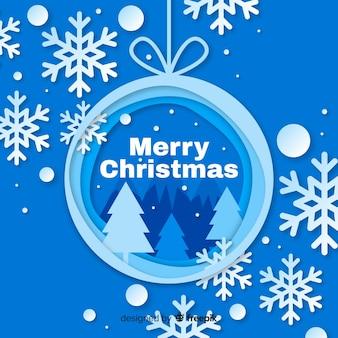 紙のスタイルのクリスマス