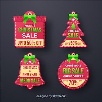 クリスマスセールのラベルパック