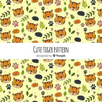 タイガー、葉、パターン