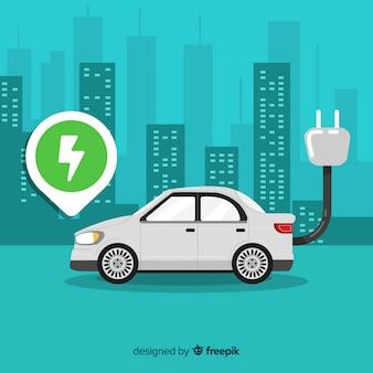 電気自動車の背景