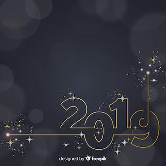輝く数字の新年の背景