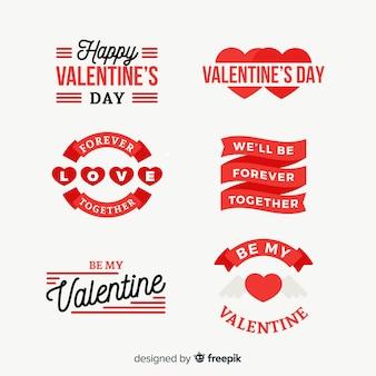 バレンタインデーバッジコレクション