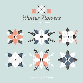 フラットな冬の花のコレクション