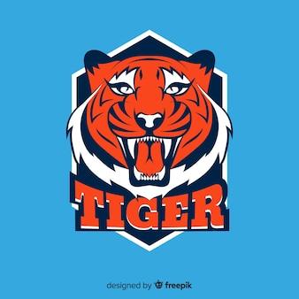 轟く虎の背景