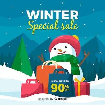 冬の販売のオークション