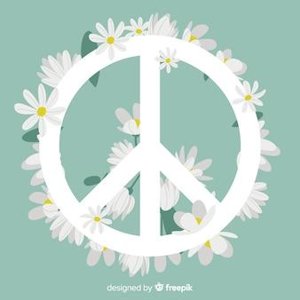Цветочный знак мира