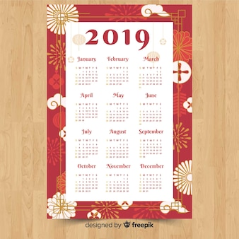 花火中国新年カレンダー