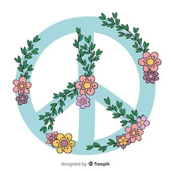 手描きの平和サイン