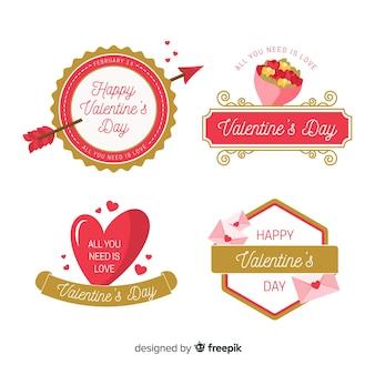 バレンタインゴールデンディテールバッジコレクション