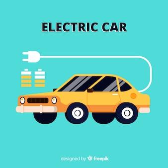 フラットな電気自動車の背景