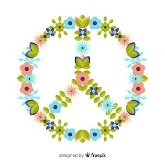 花の平和サイン