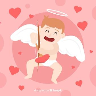 キューピッドのバレンタインデーの背景
