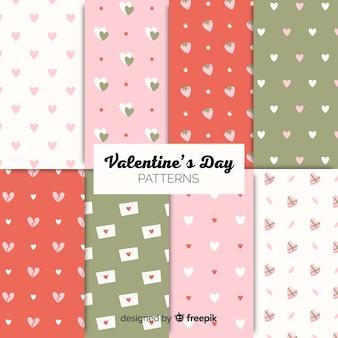 シンプルなバレンタインデーのパターン