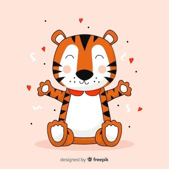 Мультяшный тигр фон