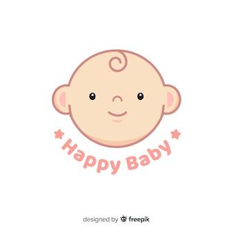 Плоский детский логотип