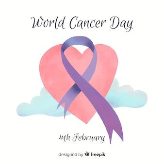 水彩世界の癌の日の背景