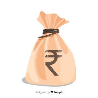 インドのルピーマネーバッグ