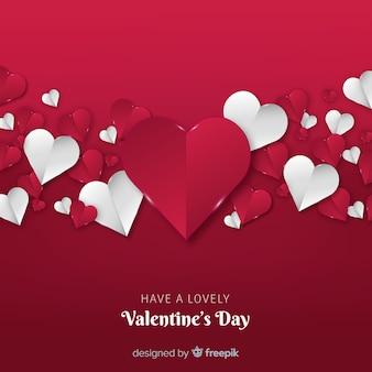 折り畳まれた心バレンタインの日の背景
