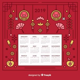 Китайский новый год календарь