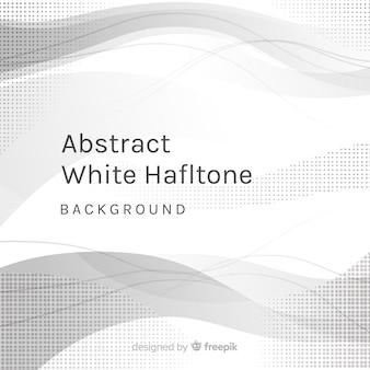 抽象的な白のハーフトーンの背景