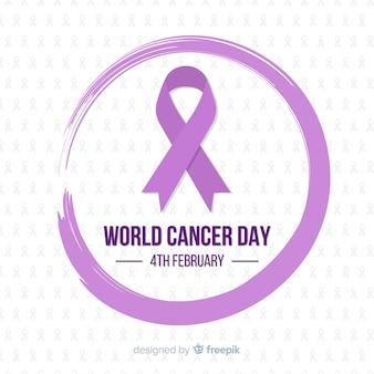 平らな世界の癌の日の背景