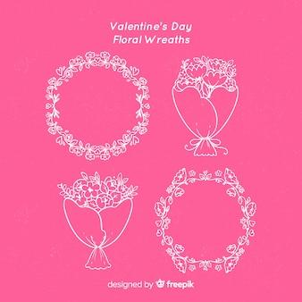 バレンタインの花輪