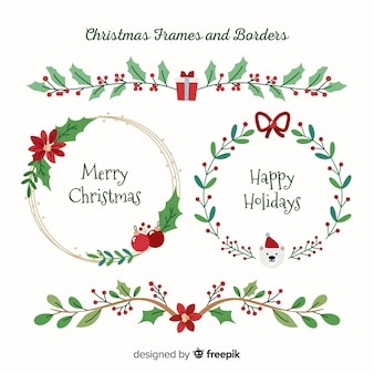 クリスマスフレームとボーダーコレクション