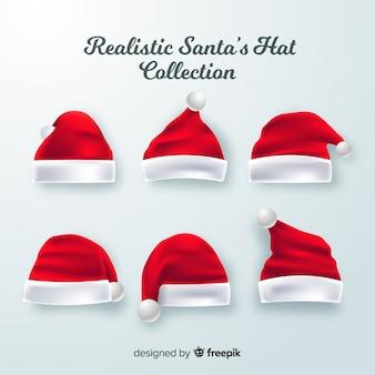 現実的なサンタの帽子のコレクション