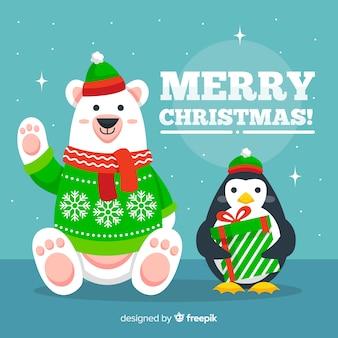 Рождественские поздравления с животными