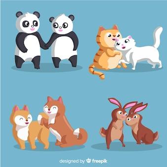 動物のカップルのコレクション