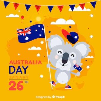 オーストラリアの日の背景