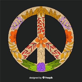 Ручной обращается знак мира