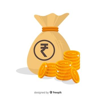 Индийская рупия денежный мешок