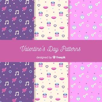 小さな要素のバレンタインパターン