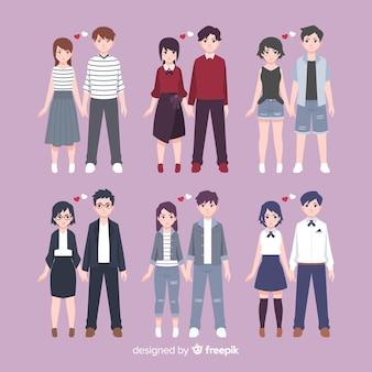 バレンタインの服装カップルコレクション